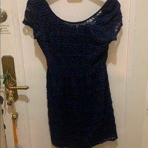 Speechless size large l blue lace dress slip